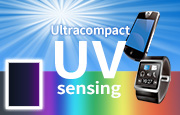 Ultracompact UV sensing