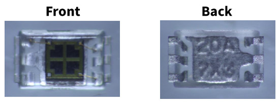 Fig.4 Surface mount package utilizing ultraviolet permeable transparent resin