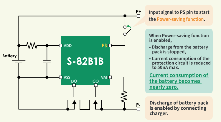Fig.1 S-82B1B series Connection Example
