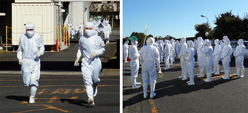 Disaster drill at the Takatsuka Unit